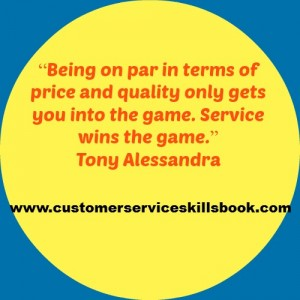 Customer Service Excellence Quote - Tony Alessandra