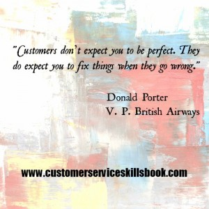 Service Recovery Quote - Donald Porter