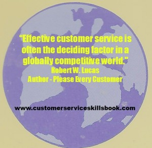Customer Service Quote - Robert W. Lucas