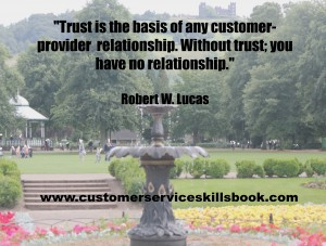 Quotes on Customer Trust - Robert W Lucas
