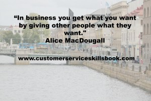 Customer Satisfaction Quote - Alice MacDougall