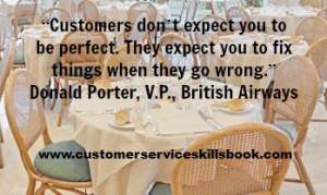 Customer Satisfaction Quote - Donald Porter