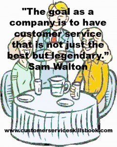 Customer Service Excellence Quote - Sam Walton offered by your customer service guru Robert C. Lucas