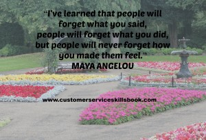 Customer Service Quote - Maya Angelou