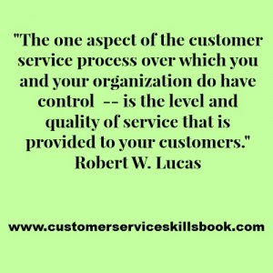 Customer Service Quality Quote - Robert W. Lucas