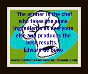 Customer Service Quote – Edward De Bono