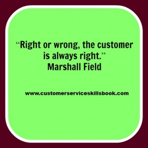 Customer Service Quote - Marshall Field